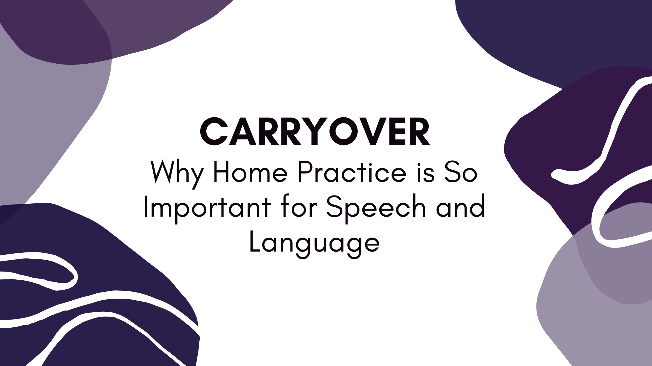 Carryover - Why Home Practice is So Important for Speech and Language